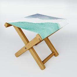Watercolor Drops Folding Stool