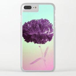 Purple Ruffles Clear iPhone Case