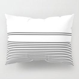 Black Lines On White Minimal Pattern Pillow Sham