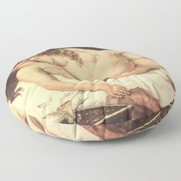 Victorian Lesbians, Gustave Courbet, 1866 Floor Pillow
