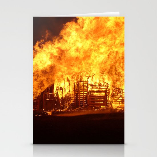 Burning Down the House Stationery Cards