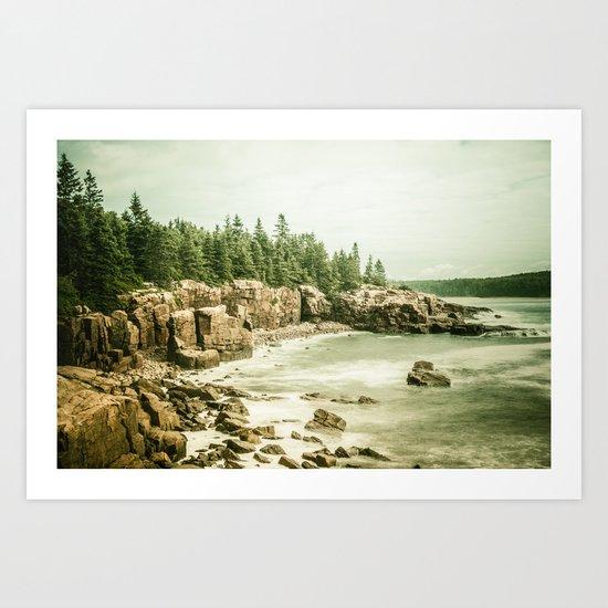 Acadia National Park Maine Rocky Beach Art Print