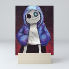 sans undertale Mini Art Print