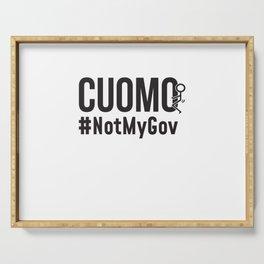 Cuomo Not My Gov Serving Tray