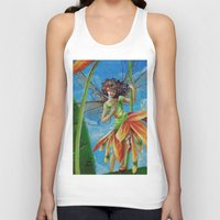 marianna Tank Tops featuring Marianna - Heliconia Haute Couture by Lauralin Maynard