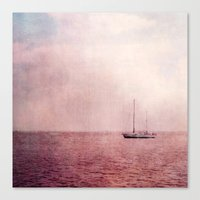 ship Canvas Prints featuring ship by Claudia Drossert