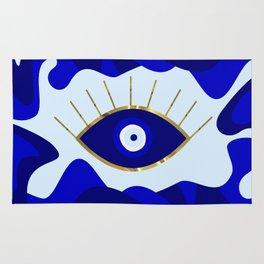 Lava All Seeing Evil Eye Rug