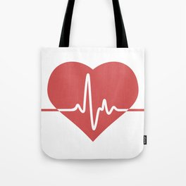 Heart with Cardiogram Tote Bag