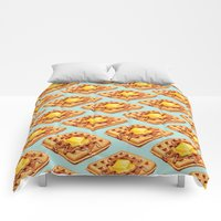 Comforters featuring Waffle Pattern by Kelly Gilleran