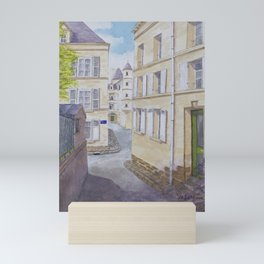 Narrow streets in Chinons old town (France) Mini Art Print