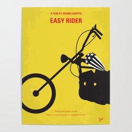 No333 My EASY RIDER minimal movie poster Poster