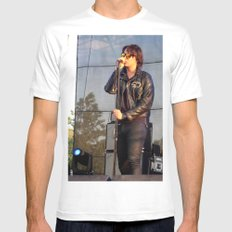 Julian - The Strokes Mens Fitted Tee MEDIUM White