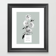 Save Your Seiva Framed Art Print