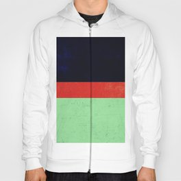 Navy, red and mint design Hoody
