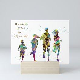 Family Run Mini Art Print