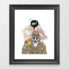 NO! Rorschach Framed Art Print