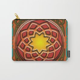 Celtic Knotwork panel in Persian Green Carry-All Pouch