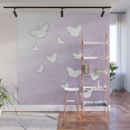 Butterflies | lilac color Wall Mural