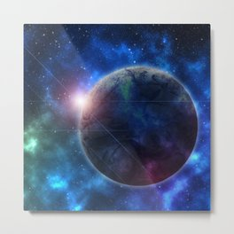 A Galaxy Teeming with Life Metal Print