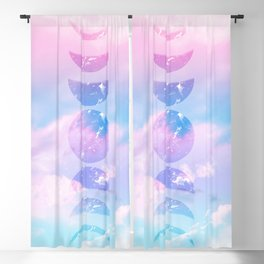 Unicorn Pastel Clouds Moon Phases #1 #decor #art #society6 Blackout Curtain