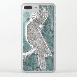 Blue Cockatoo Clear iPhone Case