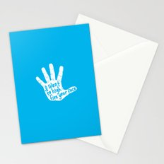 Hand to Face Stationery Cards