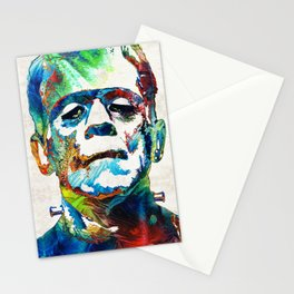 Frankenstein Art - Colorful Monster - By Sharon Cummings Stationery Cards