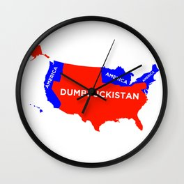 Dumbfuckistan Wall Clock