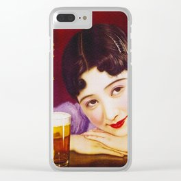 Vintage Japanese Beer Advertisement Clear iPhone Case