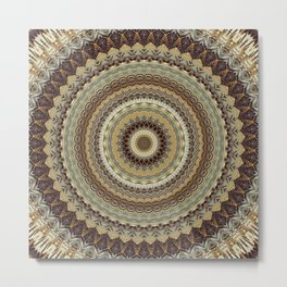 Earth Mandala 7 Metal Print
