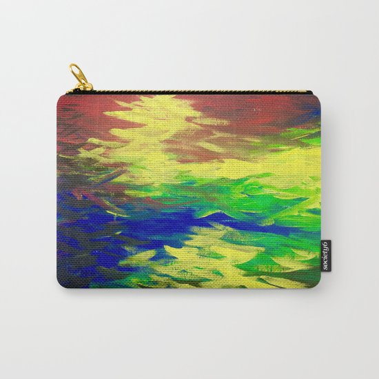 Peacock. Mimosa Inspired Primary Colors. Peacock. Carry-All Pouch