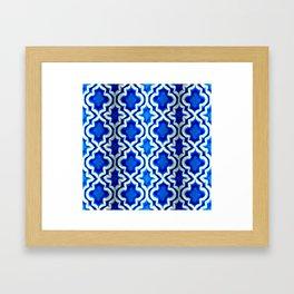 Blue Turkish Pattern Framed Art Print