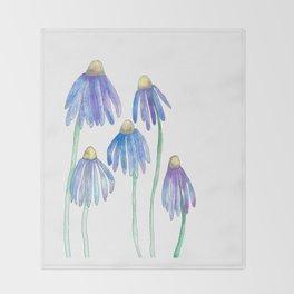 Blue Spring Daisies Throw Blanket