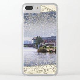 Dublin Docks Clear iPhone Case