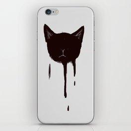 dripping cat iPhone Skin