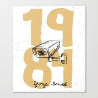 1984 Canvas Prints featuring 1984 by willjames
