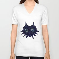 majoras mask V-neck T-shirts featuring Majora's mask galaxy by Pocketmoon designs