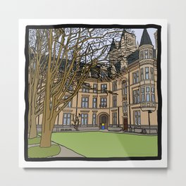 Cambridge struggles: Gonville and Caius College Metal Print