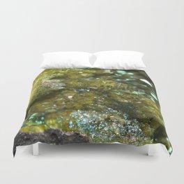 Geode Abstract Citrine Duvet Cover