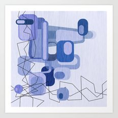 Feeling Blue. Art Print