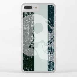 burning skull Clear iPhone Case