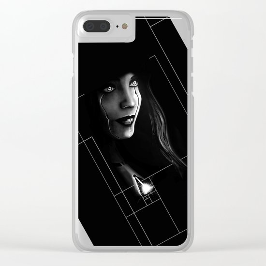 Cyborg Beauty Clear iPhone Case