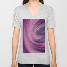 violate and blue colorful mix abstract Unisex V-Neck