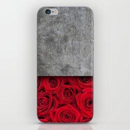Concrete Flowers iPhone Skin