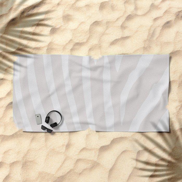 Tan & Off White Zebra Print Beach Towel
