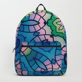 Fun with Coloring Mandala Style 4 Backpack