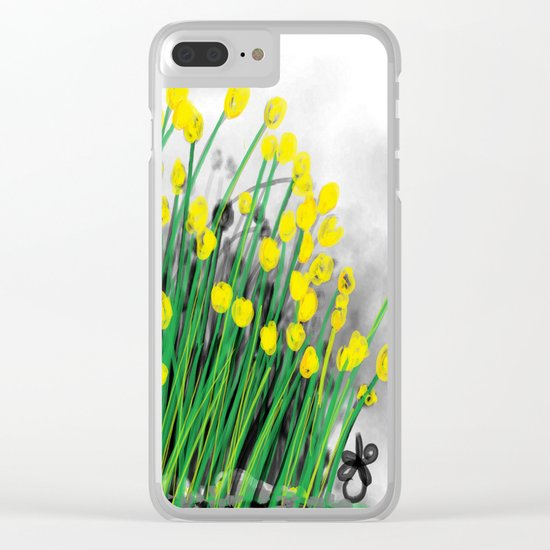 Yellow Flowers! Clear iPhone Case