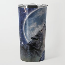 A One Wolf Moon Travel Mug