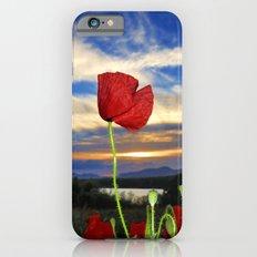 Spring poppies. Sunset. Slim Case iPhone 6s