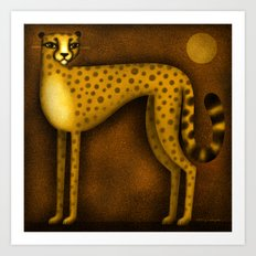 NIGHT CHEETAH Art Print